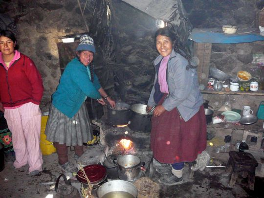 Cooking on the altiplano